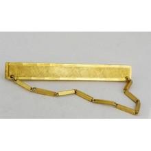 Pince à cravate en plaqué or laminé vers 1970