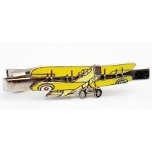 Pince à cravate avion biplan en émail