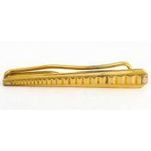 Pince à cravate vintage en métal doré années 1950