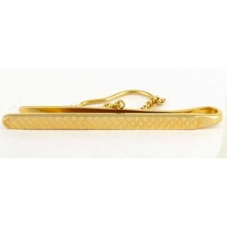 Pince à cravate 1970 plaqué or à chainette