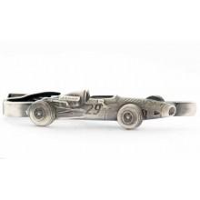 Voiture de course années 50 en métal blanc