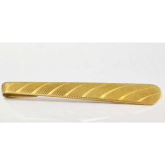 Pince à cravate 1950 plaquée or laminé