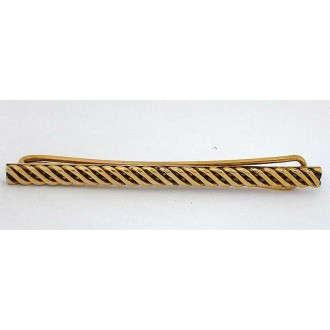 Pince à cravate vintage des années 1980 en plaqué or