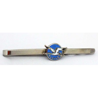 Pince à cravate émaillée cigogne Alsace vintage