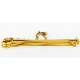 Pince à cravate vintage plaquée or Murat à chainette