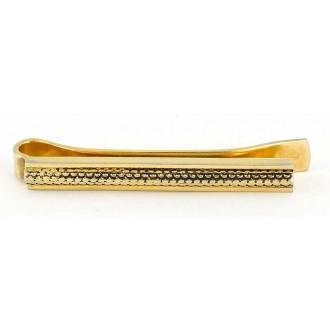 Pince à cravate dorée vintage