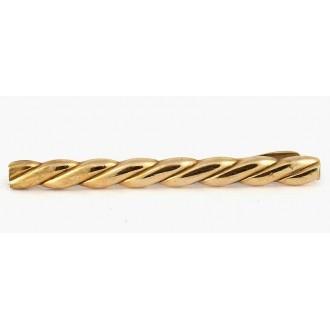 Pince à cravate vintage dorée vers 1960
