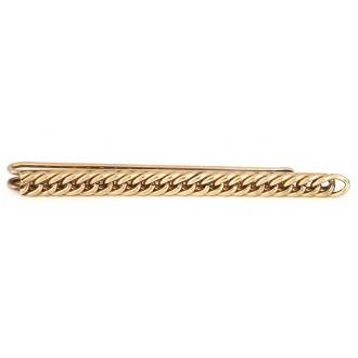 Pince à cravate vintage dorée face de chainette