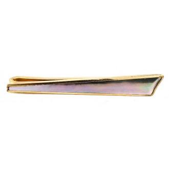 Pince à cravate 1960 nacre et plaqué or
