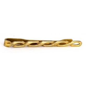 Pince à cravate ancienne vers 1950 en métal doré