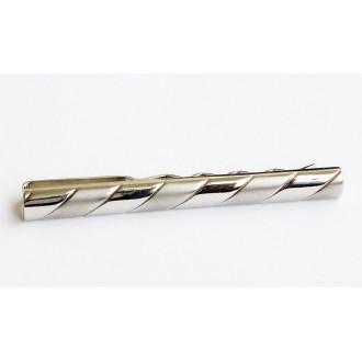 Pince à cravate TM LEWIN en métal blanc